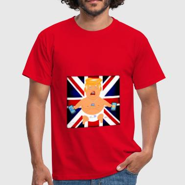 BABY TRUMP BLIMP BRITISH FLAG Design - Men's T-Shirt