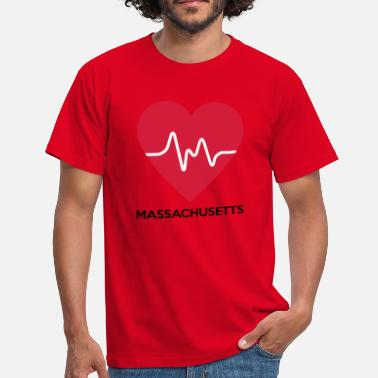 Massachusetts hjerte Massachusetts - Herre-T-shirt