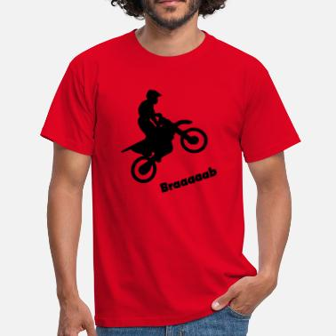 Wheelie Motorcycle Motorcycle in the wheelie - Men's T-Shirt