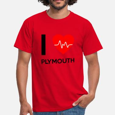 Plymouth I Love Plymouth - jeg elsker Plymouth - Herre-T-shirt