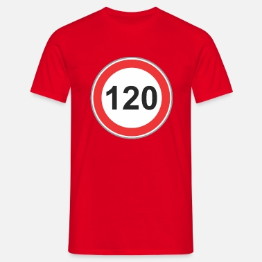 Transportfordon Vägskylt 120 - T-shirt herr