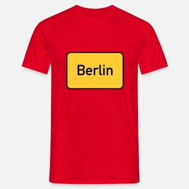 Street Signs Street sign Berlin town sign - Men's T-Shirt
