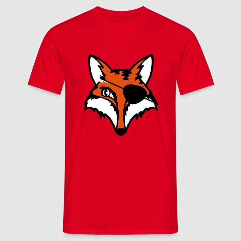 The fox with an eye patch - Men's T-Shirt