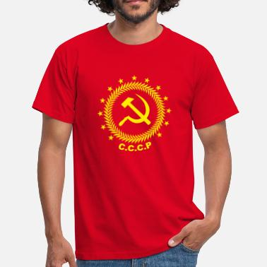 Cccp Emblem Sickle Hammer - Men's T-Shirt