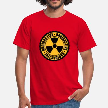 Caution stamp danger caution caution caution atomic bomb - Men's T-Shirt