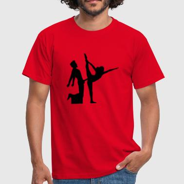 yoga figure fitness splits sexy girl female hot - Men's T-Shirt