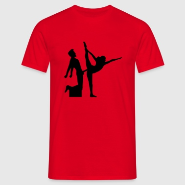 yoga figura fitness se divide sexy girl female hot - Camiseta hombre