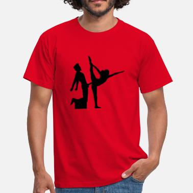 Sexy Word yoga figure fitness splits sexy girl female hot - Men's T-Shirt