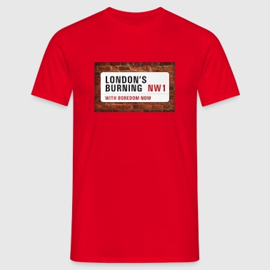 London's Burning - clash - Men's T-Shirt