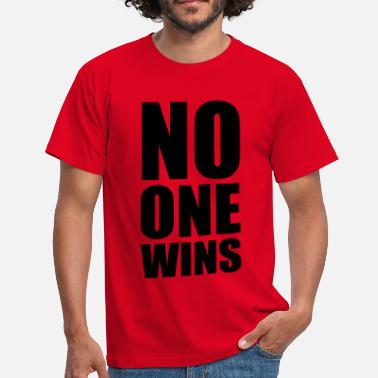 Venskab no one wins - Herre-T-shirt