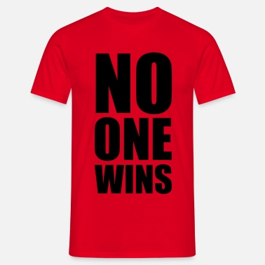 Fjende no one wins - Herre-T-shirt