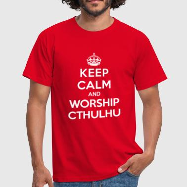 Keep calm and worship Cthulhu - T-shirt herr