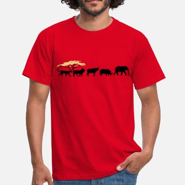 Wildnis Big Five in der Savanne - Männer T-Shirt