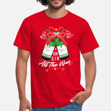 Gin Quotes Gin-Gle Bells...Gin Gin All The Way - Christmas - Men's T-Shirt