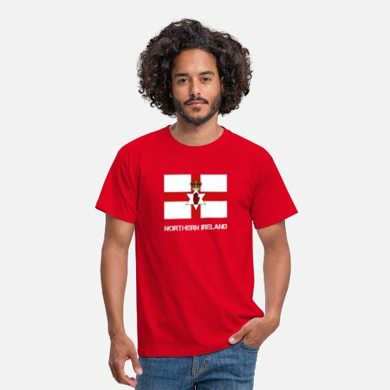 Nordirland T-Shirts - Nordirland Flagge - Männer T-Shirt Rot