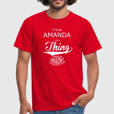 Name Amanda Amanda - Men's T-Shirt