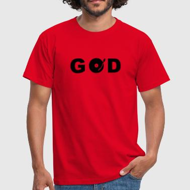 Platten GOD is a DJ - Männer T-Shirt