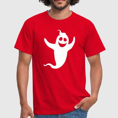 white ghost spirit laugh sweet cute cheeky c - Men's T-Shirt