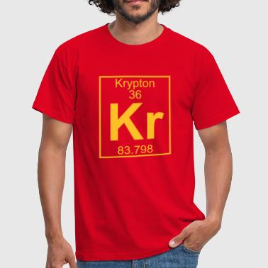 Periodic table element 36 - Kr (krypton) - BIG - Mannen T-shirt