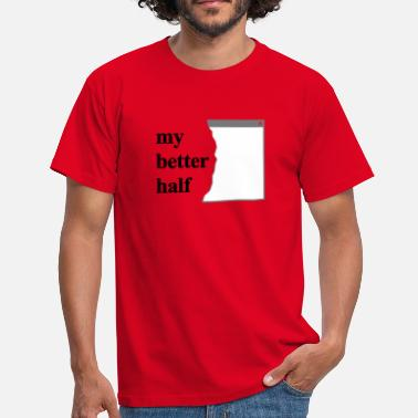 Internet my better half +  your blog etc - Herre-T-shirt