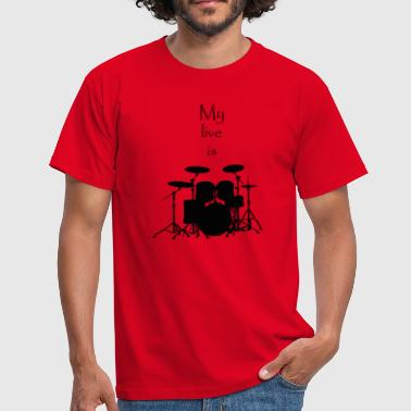 Percussion mylifeisdrums - Männer T-Shirt