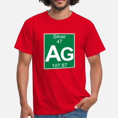 Silver Ag 47 Elements 47 - ag (silver) - Full (white) - T-shirt Homme