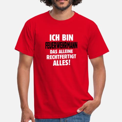 Feuerwehrmann Feuerwehr Geschenke T Shirt 112 Manner T Shirt