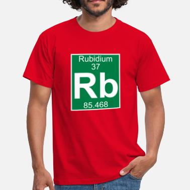 Rb Elements 37 - rb (rubidium) - Full (white) - T-shirt Homme