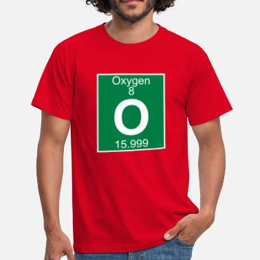 O Element Oxygen (O) (element 8) - Men's T-Shirt