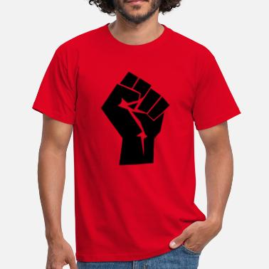 Raised Fist Raised Fist Logo - Men's T-Shirt