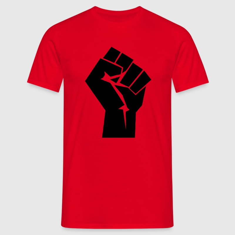 Raised Fist Logo - Men's T-Shirt