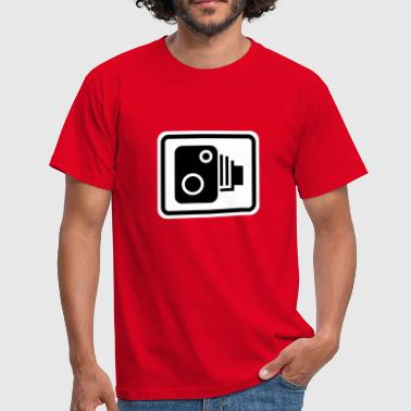 Speed Camera Sign - Men's T-Shirt