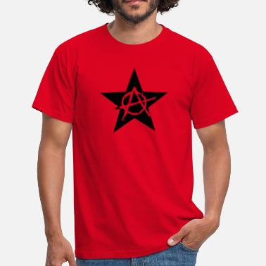 Chaos Star Star Anarchy chaos rebel revolution protest black  - Men's T-Shirt
