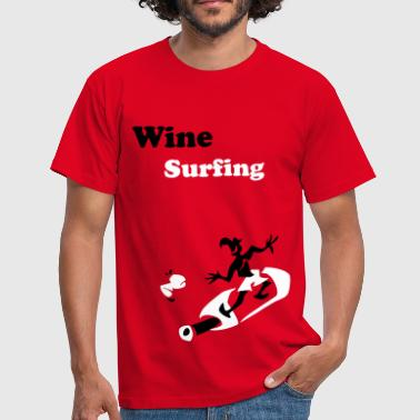 Wine Surfing - Funny Man Sport - Men's T-Shirt
