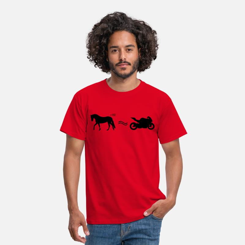 Moto T-shirts - Moto cheval  - T-shirt Homme rouge