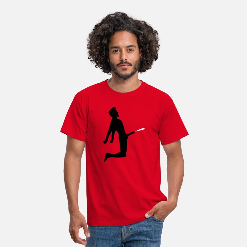 Penis T-Shirts - sperma cumshot sperma penis grote man mannetje - Mannen T-shirt rood