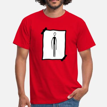 Bennet note papir note find black alien man la - Herre-T-shirt