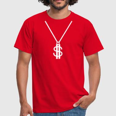 Crip Dollar Chain Pimp - Men's T-Shirt