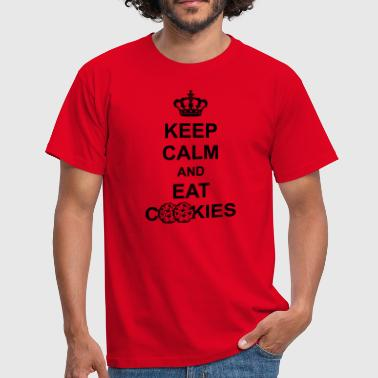 Poster crown keep calm and eat cookies koenig poster cook - Men's T-Shirt