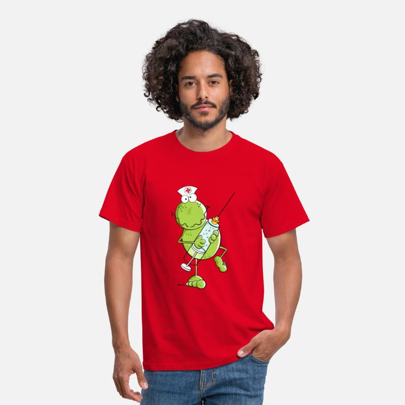 Nurse T-Shirts - Nurse Frog  - Men's T-Shirt red