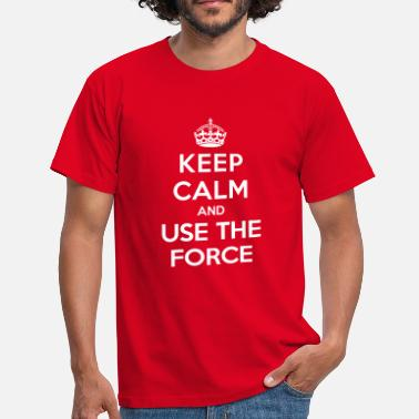Keep Calm Keep calm and use the Force (Star Wars) - Koszulka męska