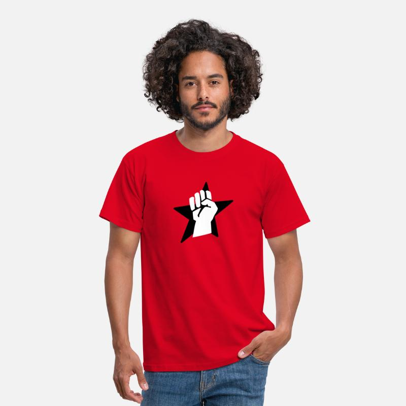 Anarchie T-shirts - fist faust - T-shirt Homme rouge