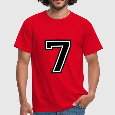 Number 7 Seven - Men's T-Shirt