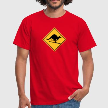 roadsign kangaroo - Men's T-Shirt