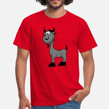 Bouc Chèvre Signe zodiacal comique animal - T-shirt Homme