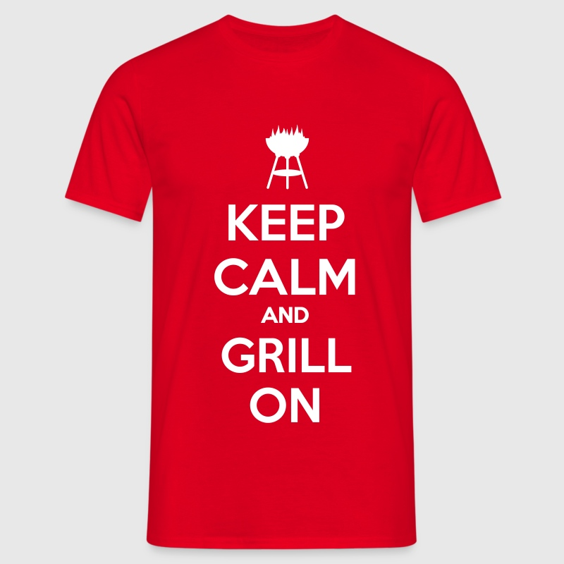 keep calm and grill on - Koszulka męska