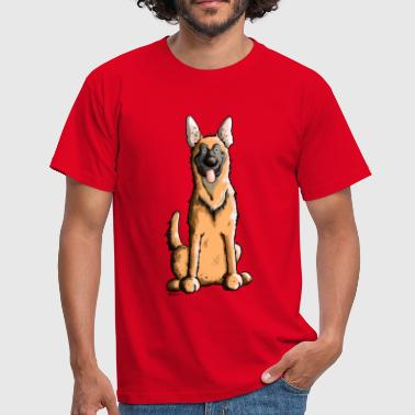Happy Malinois - Belgian Shepherd Dog - Men's T-Shirt