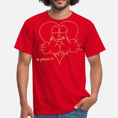 Penis Heart penis Love - Men's T-Shirt