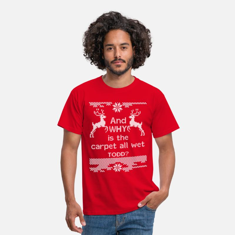 Carpet T-Shirts - And WHY is the carpet all wet TODD? - Men's T-Shirt red