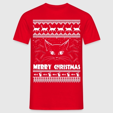 MEOWY CHRISTMAS merry christmas - Men's T-Shirt